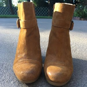 Lucky Brand Shoes - Lucky Brand Suede Heeled Booties